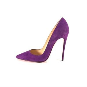 Christian Louboutin So Kate 120 Violet Suede 38.5